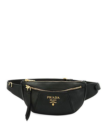 9b8bf7ad5ddb Daino Belt Bag Leather Belt Bag, Pebbled Leather, Prada Handbags, Handbag  Accessories,