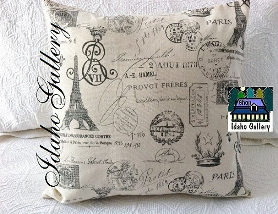 French Script on Crème Soft Versitile Pillow Cover by IdahoGallery, $18.00