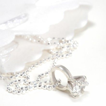 Tales From the Earth Little Girls Big Diamond Ring Necklace #christening #kids #jewellery