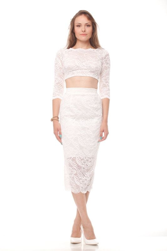 Wedding Sexy Mid Lace Skirt Wedding Lace Skirt Ivory Wedding