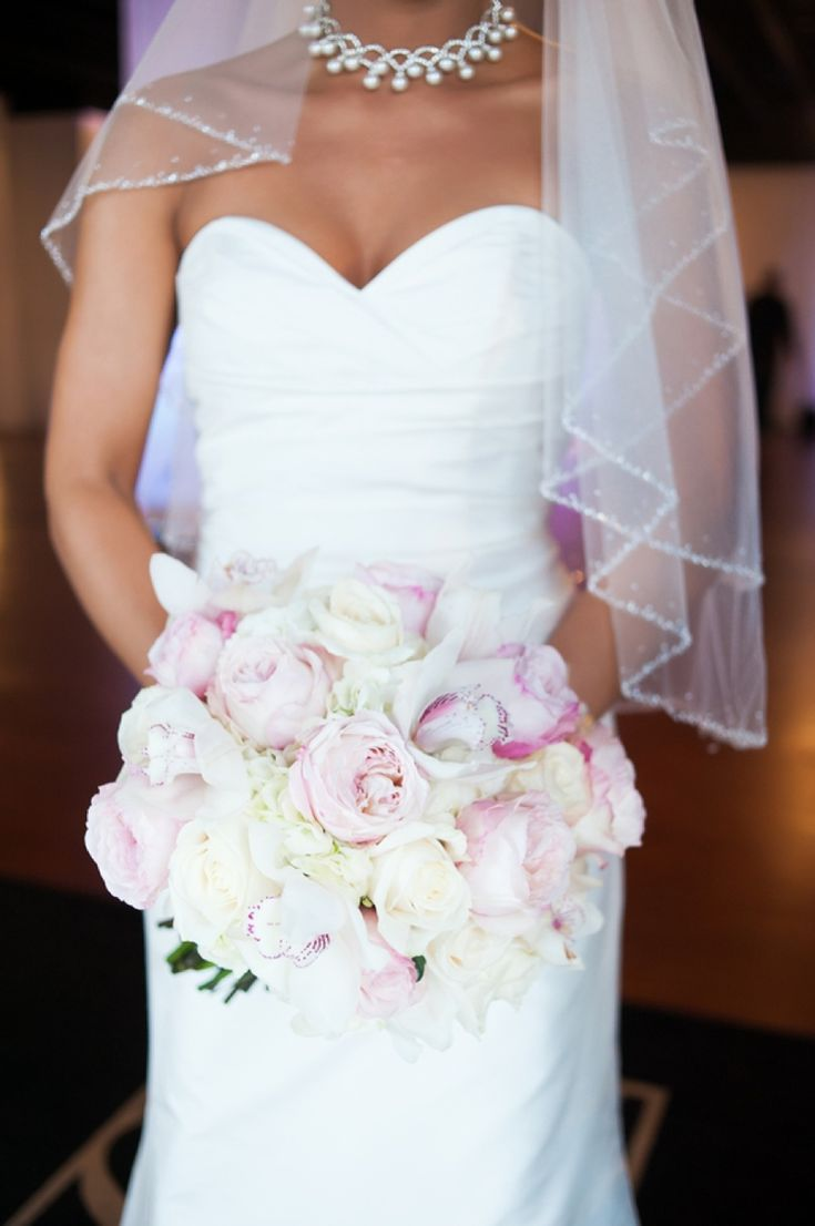 Beautiful pink and white bouquet! // photo by Soli Photography