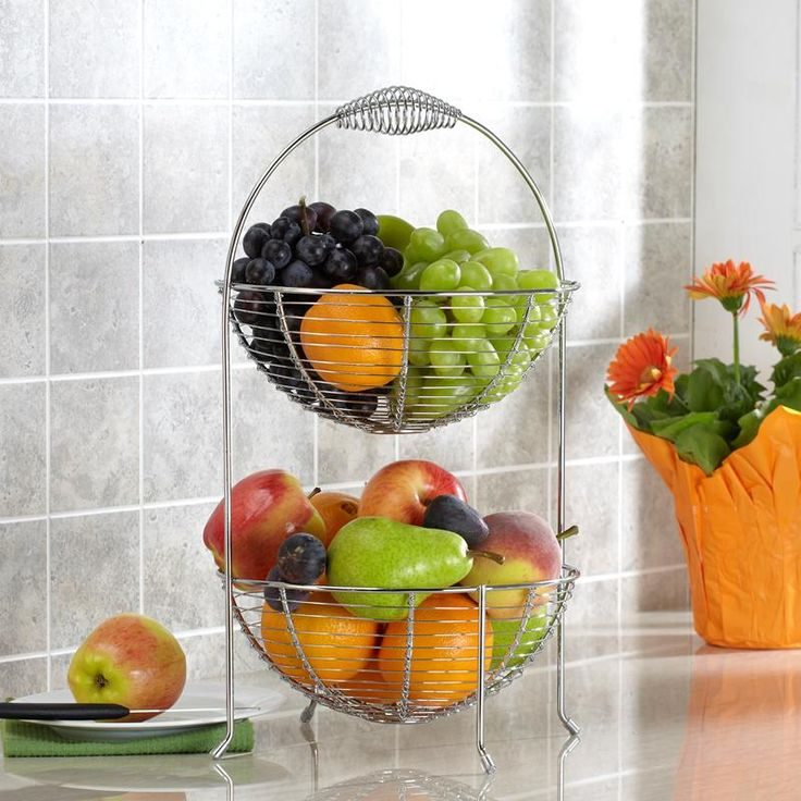 Ksp Circ Fruit Vegetable Basket Chromewire Available For At The Best Price Kitchen Stuff Plus Your Bread Bo Baskets