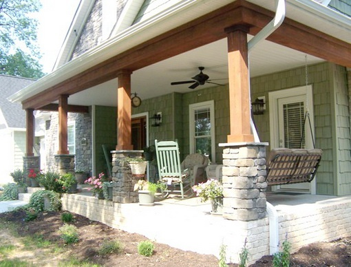 17 best images about front porch on pinterest faux stone for Faux wood exterior columns