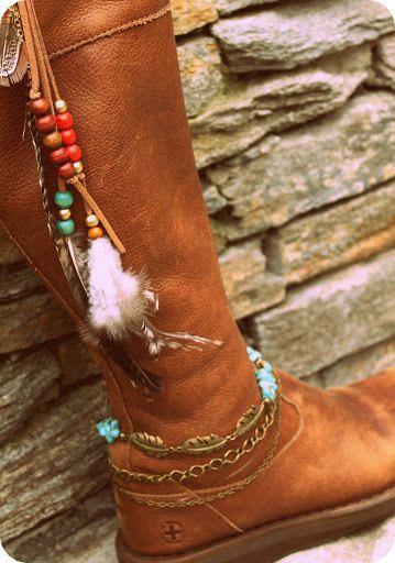 Cowgirl BOHO Boot CuffWestern boot turquoise by handmadebyinali, $29.00