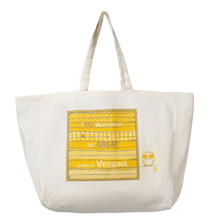Beach Bag Vergina: I saw Alexander the Great jogging in Vergina. Material: Canvas.