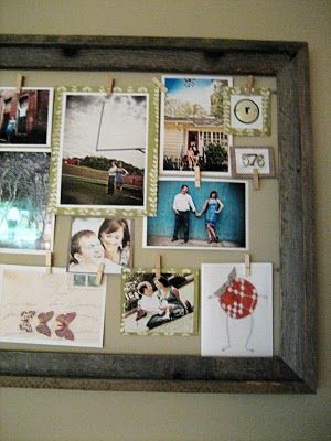 create a clothespin picture frame / bulletin board for each girl to be able to pin up art/papers/pictures/etc