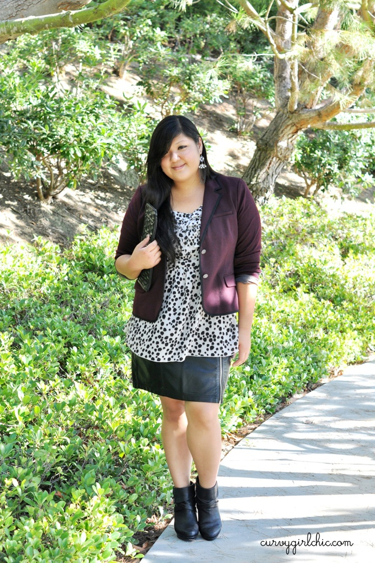 What I Wore 10.09.12  #fallfashion #plussizefashion #ootd    Curvy Girl Chic - Plus Size Fashion and Style Blog: rocker girl
