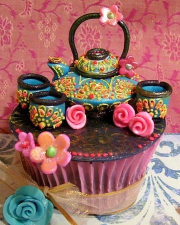 tea set cupcakeGiants Cupcakes, Teas Time, Amazing Cupcakes, Cupcakes Design, Cups Cake, Teas Sets, Cupcakes Rosa-Choqu, Parties Cupcakes, Teas Parties