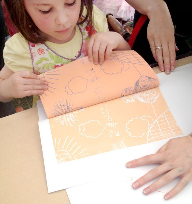 Faux lino Printing with Nest Studio at Adelaide Writers Week 2014