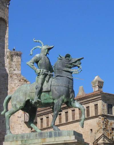 Trujillo, Bronze statue of the Conquistador Francisco Pizarro
