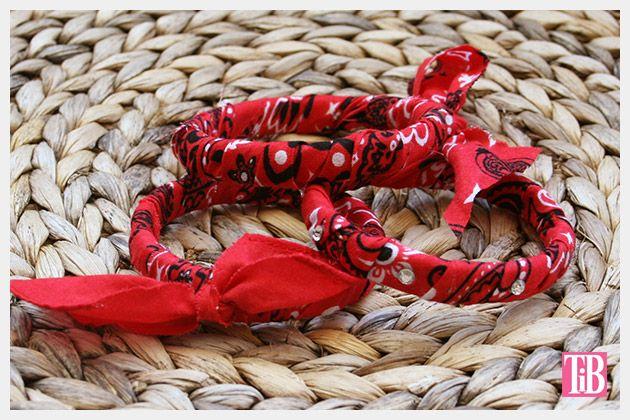 DIY Bandana Bracelets photo 2 by Trinkets in Bloom