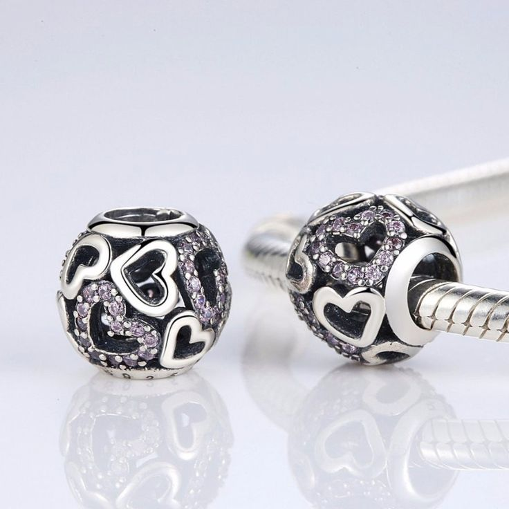 Charms   Sterling silver falling in love charm