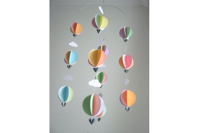Hot Air Balloon Mobile - Pastel Colours by younghearts on hellopretty.co.za