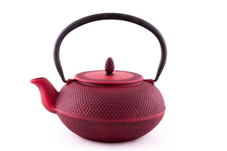 Teekanne Gußeisen m.Sieb Iwachu Nanbu Japan Arare Teekessel cast iron teapot 0,9