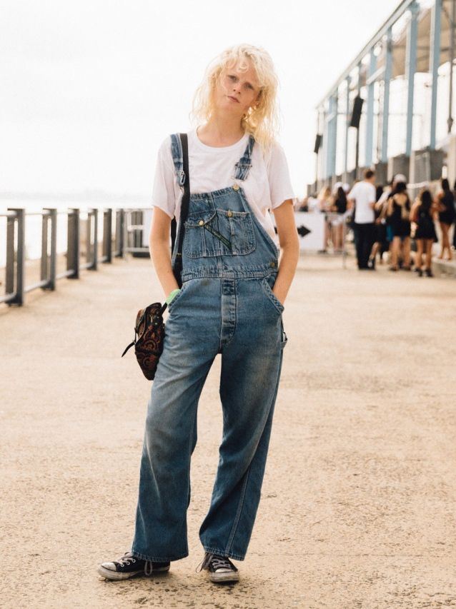 overalls moment. HGO #offduty in NYC.