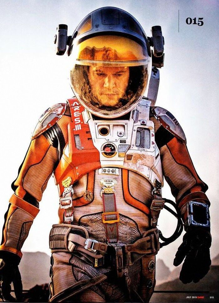 Matt Damon in The Martian. Based on the novel by Andy Weir, about an astronaut stranded on Mars after his crew's mission goes terribly wrong.