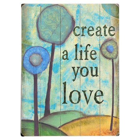 A Life You Love Wall Decor