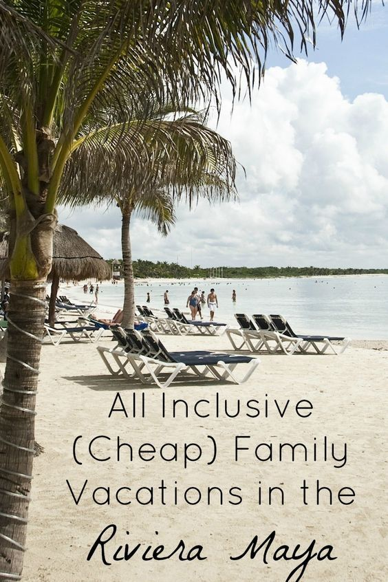 Looking for fun cheap family vacations that don't feel cheap? Get away with all inclusive package deals to the Riviera Maya in Mexico with these deals! #vacationideascheap
