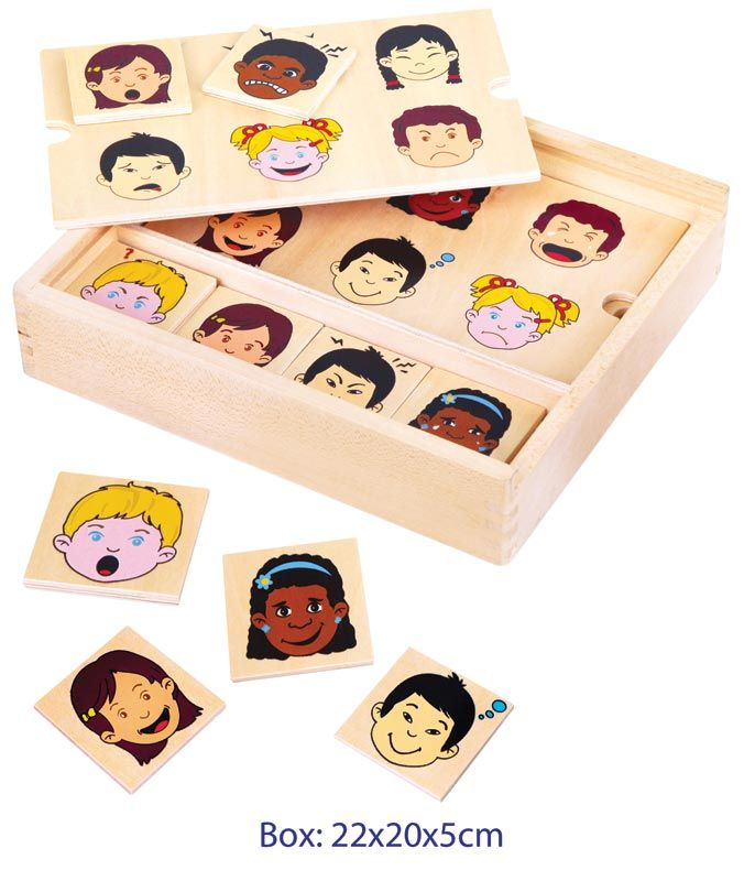 Matching Expressions Game $16 This is a bingo style game with 4 wooden playing boards, children need to carefully observe and identify the expressions in order to match the 24 expression tiles Learn the difference between varying difficult social expressions  Make this game fun by making your face do the same expression and ask your child if they can make the same face 3yrs +