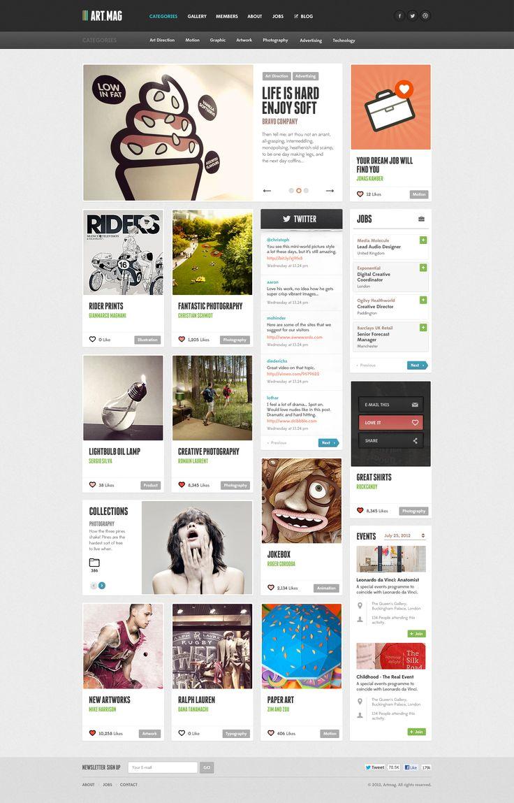 Art Mag web design