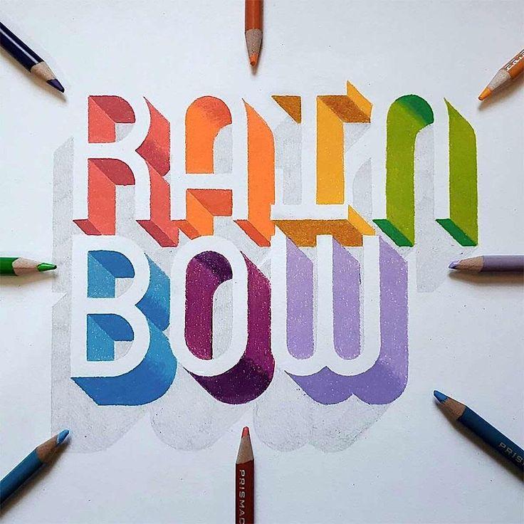 Licht und Schatten: Handlettering mit 3D-Effekt  Das handgeschriebene Wort lebt in Zeiten der fingergetippten Spracherkennung wieder auf. Abstrakt, verschnörkelt oder mit 3D-Effekt ist Kalligrafie...