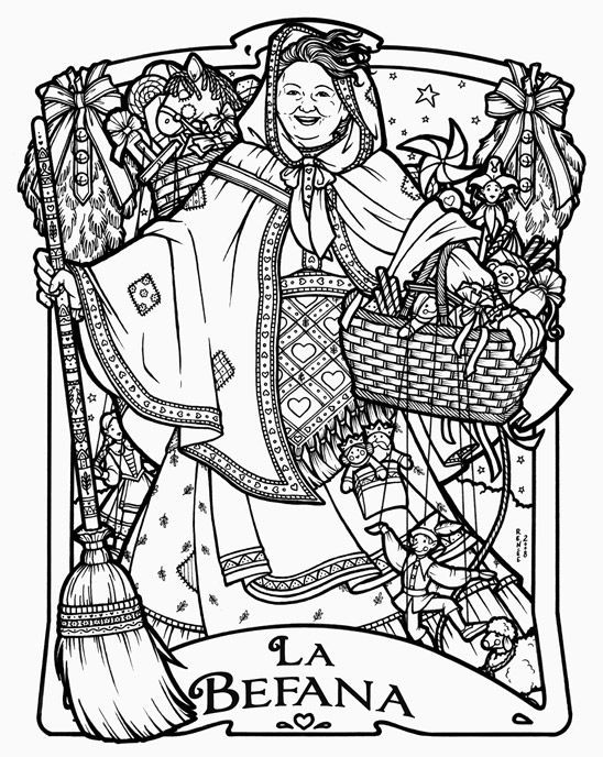 34 best befana images on epiphany winter holidays and children of other lands 1954 france switzerland italy germany christmas coloring pageshand