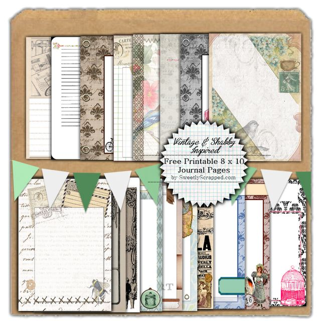 19 Free Printable Journal Pages for scrapbooking and smashbooks
