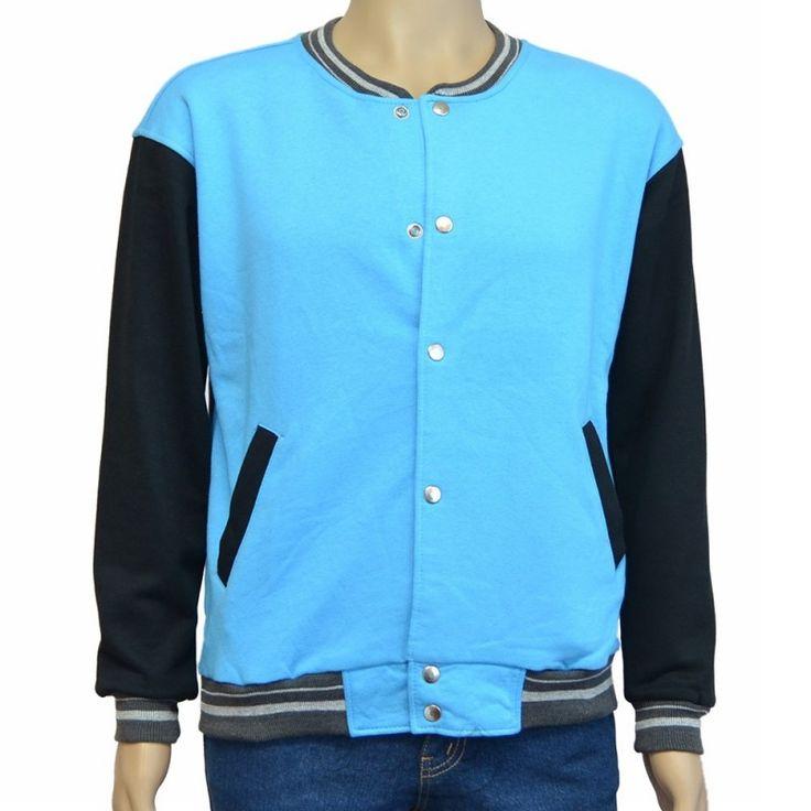 Varsity Jacket Sea Blue Black