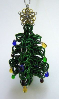 chain mail christmas ornaments - Google Search