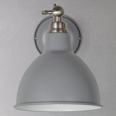 Buy John Lewis Aiden Wall Light, Grey Online at johnlewis.com