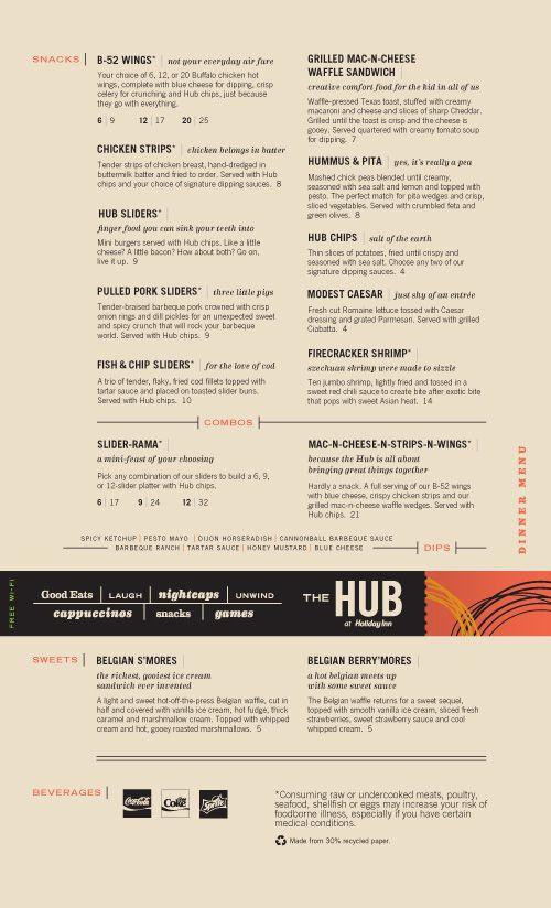 The Hub menu