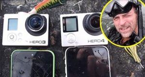 This Guy While Diving In The River Finds 2 GoPro's, 2 iPhones, Fishing Tackle and Even More!