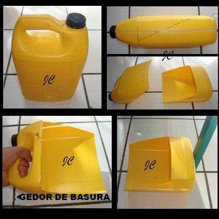 EL MUNDO DEL RECICLAJE: DIY recogedor hecho con un bidón de plástico