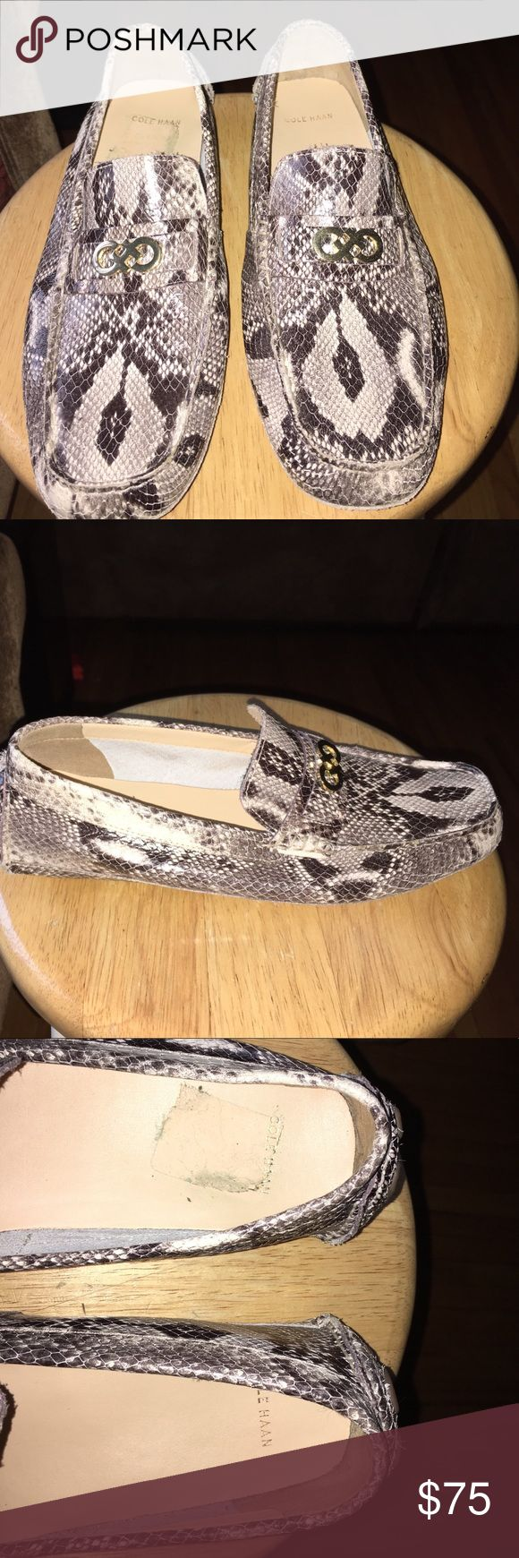 Cole Haan driver grant loafers Women's loafers. Roccia snake print. Wore a few times. In good condition! Accepting reasonable offers!! Cole Haan Shoes Flats & Loafers