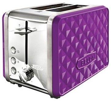 Bella Diamonds 2-Slice Toaster, Purple contemporary toasters