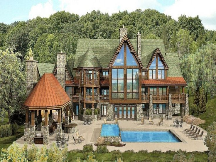 Luxury log cabin home designs