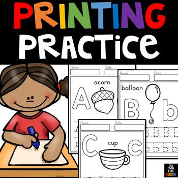 Printing Practice Thank you for stopping by to view the Printing Practice packet!  These worksheets were tailor made for pre-k to kinder kids.These Printing Practice pages are in portrait format. Students can choose up to 8 pages for each letter, giving them over a weeks worth of practice! *** If you plan on sharing this resource, please purchase the appropriate number of licenses.The Kinder Kids Storeprekprintables@outlook.com