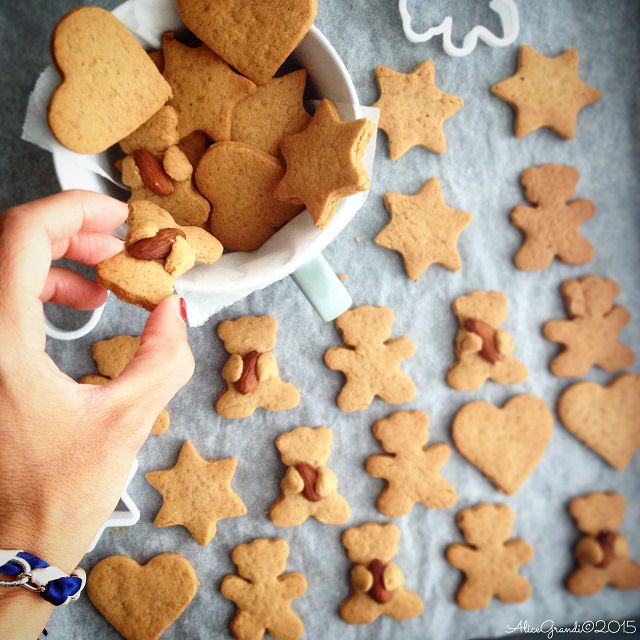 Biscotti Pan di Zenzero senza burro | Gingerbread man cookies  dairy free or vegan recipe