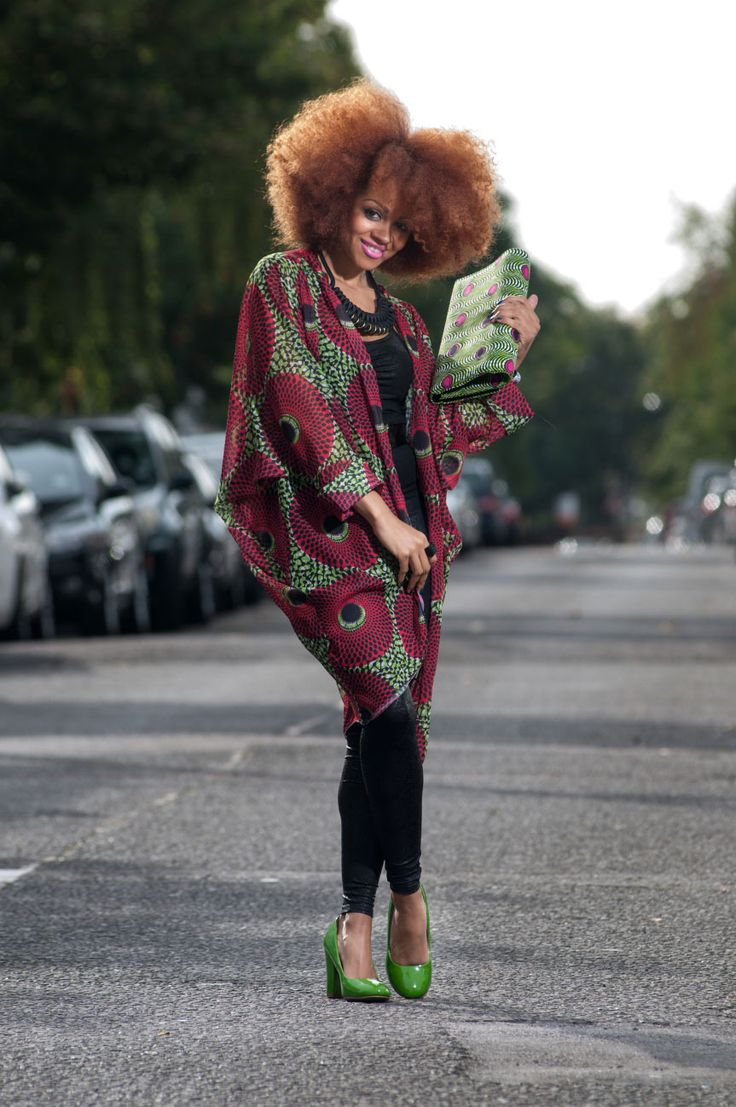 African fabric more versatile. This Tóté: African Large Floral Print Chiffon Kimono is doing just that. I love the flow and silky feel of the fabric