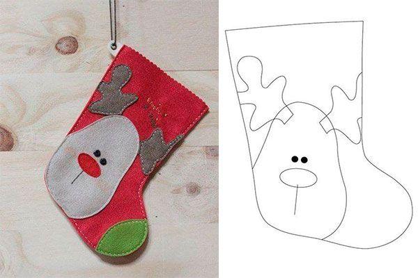 Moldes para hacer bonitas botas navideñas