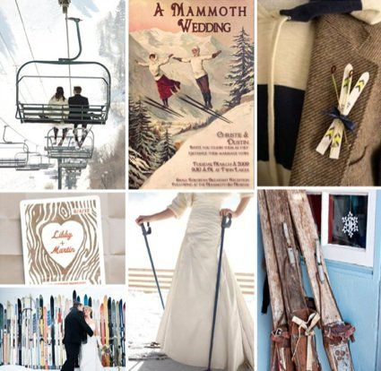 Ski Themed Wedding | Winter Wedding Decor | Snow Wedding Ideas