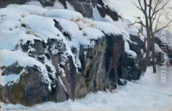 Snow-covered Cliffs Oil Painting, Eero Jarnefelt Oil Paintings - NiceArtGallery.com