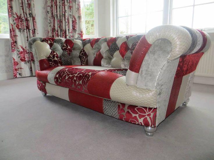 Chesterfield Sofa im Patchwork-Stil wwwkippax-sofasde - chesterfield sofa holz modern