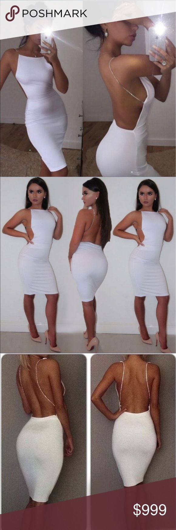 🥀🖤New Arrival 🖤🥀Sexy All White Dress 🖤🥀 Sexy All White BodyCon Dress Free People Tops