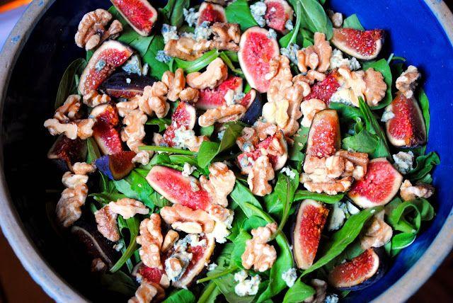 Simply Scratch » Fresh Fig & Arugula Salad with a Lemon Vinaigrette
