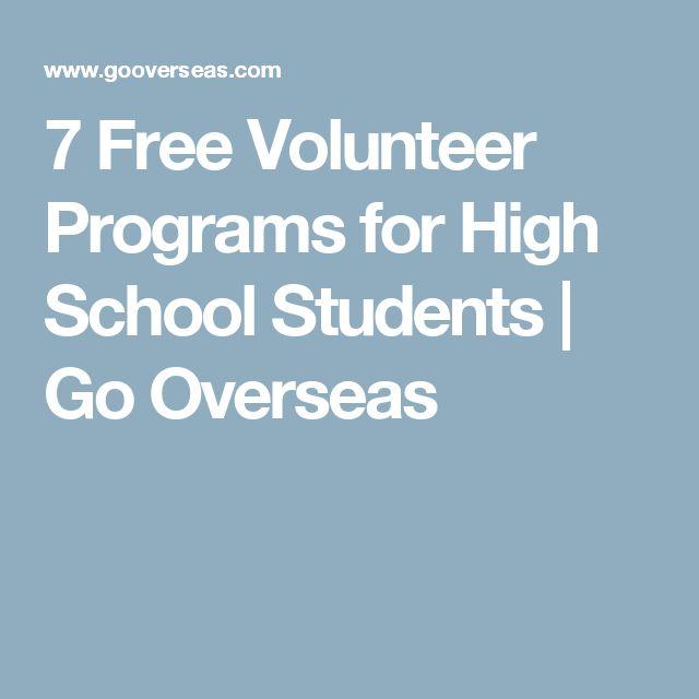 7 Free Volunteer Programs for High School Students | Go Overseas