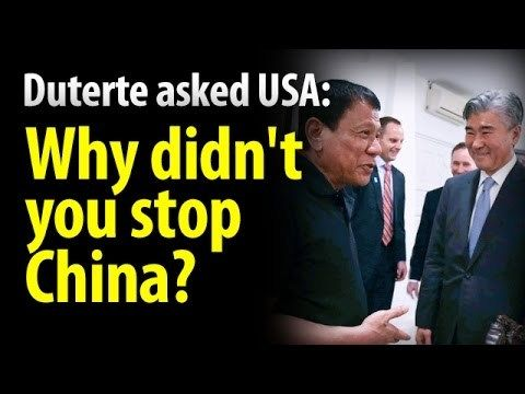 US envoy unable to answer Duterte's question, 'Why didn't you stop China?' - WATCH VIDEO HERE -> http://dutertenewstoday.com/us-envoy-unable-to-answer-dutertes-question-why-didnt-you-stop-china/   News video courtesy of The Storyteller YouTube channel  Disclaimer: The views and opinions expressed in this video are those of the YouTube Channel owners and do not necessarily reflect the opinion or position of the site owners/FB admins.