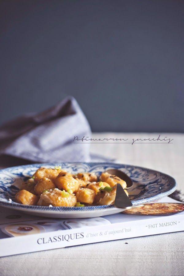 Mon petit bistrot: Gnocchi alla zucca con salsa di cipollotto, al profumo di noce moscata e sesamo nero