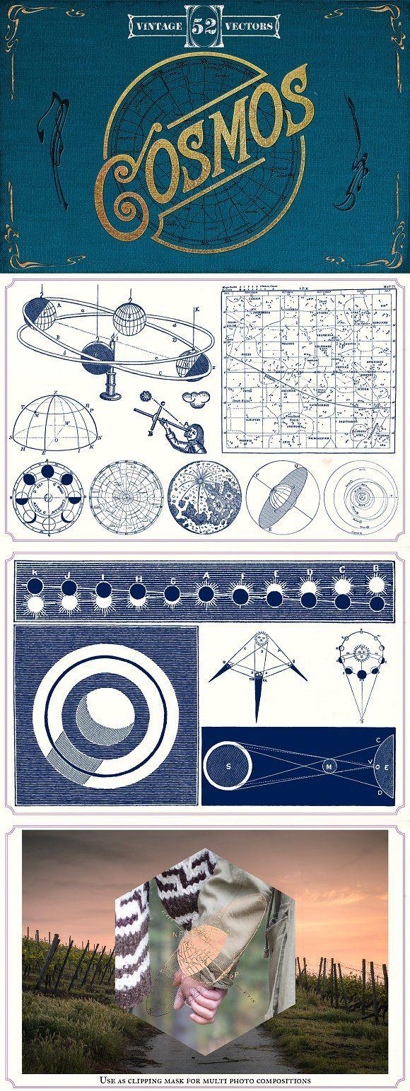 Vintage Space vector illustrations by Mr Vintage on @creativemarket