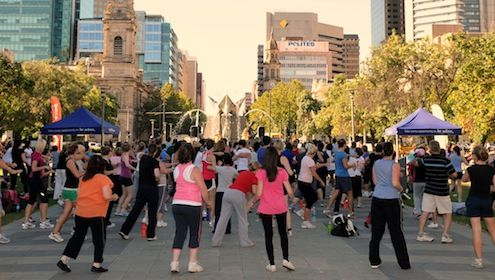 Free Zumba in Victoria Square, Adelaide